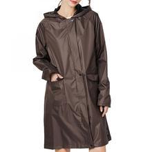 New Fashion Oxford Raincoat With Belt Adult Men Women Rainwear Rainsuit Hiking Tour Hooded Poncho Capa De Chuva