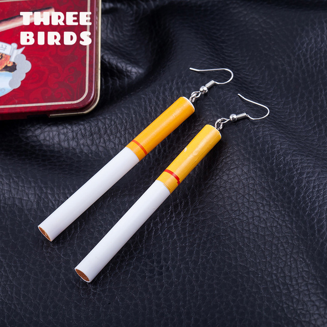 Trendy Bohemia Funny Earings Lifelike Smoke Butts Earrings For Women Fashion Jewelry Accessories.jpg 640x640 - Trendy Bohemia Funny Earings Lifelike Smoke Butts Earrings For Women Fashion Jewelry Accessories серьги прикольные