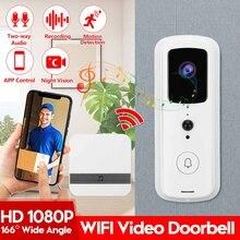 WIFI akıllı kapı zili görüntülü interkom 1080P HD kablosuz akıllı ev IP kapı zili kamerası güvenlik Alarm IR gece görüş