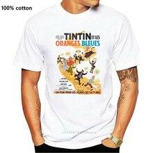 TINTIN AND ORANGES BLEUES 1960's RÉTRO AFFICHE de FILM UNISEXE T-SHIRT Cool Décontracté fierté T-SHIRT hommes Unisexe Nouvelle Mode tshirt