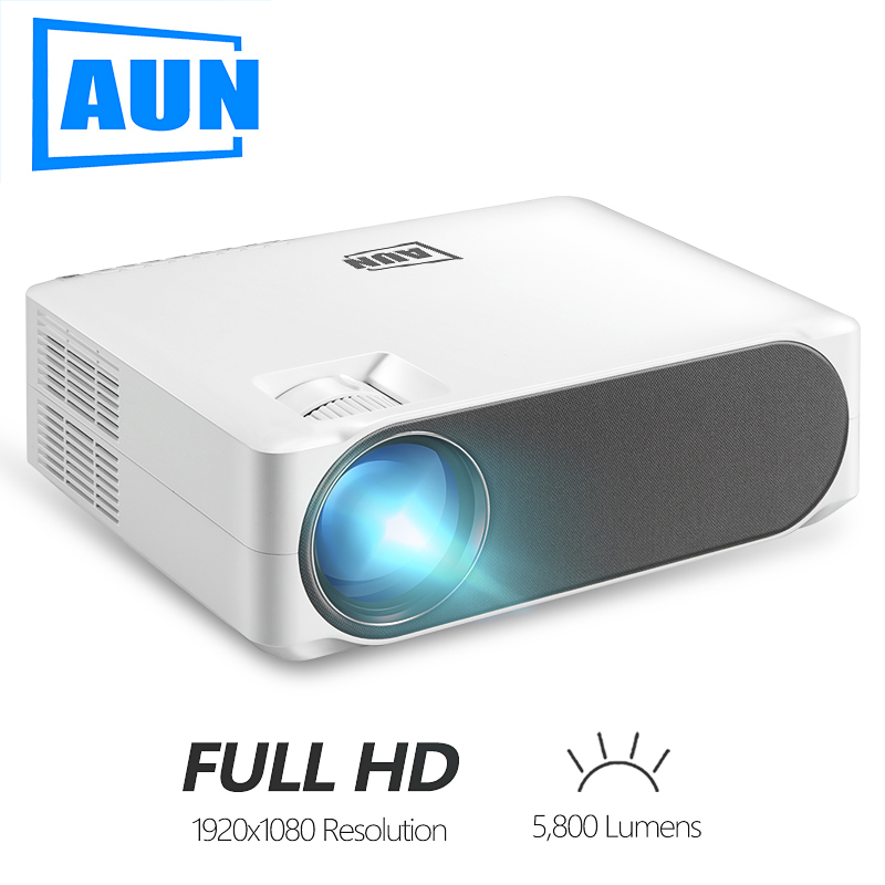 AUN LED Projector Video-Beamer AKEY6 Android-Wifi Home Cinema Lumens 1920x1080p Optional