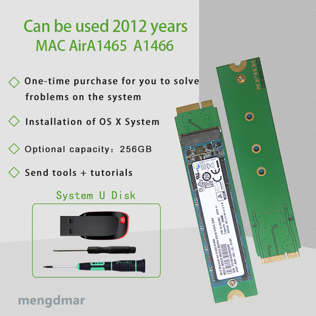 Nuovo SSD DA 256GB Per Il 2012 Macbook Air A1465 A1466 SOLID STATE DISK Md231 md232 md223 md224 hard disk SSD 256G