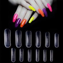 Kit de molde de construcción rápida para uñas, set de 60 unids/bolsa de 12 tamaños, molde para uñas poligel, extensión de uñas artísticas, formas de puntas de dedos UV