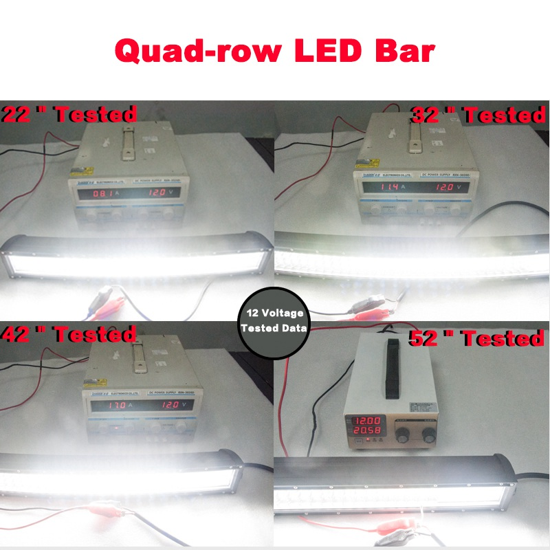 """Image 5 - VISORAK 22 32 42 52"""" Four Row Straight Curved LED Light Bar 4x4 4wd Offroad LED Bar For Car Boat 4WD 4x4 Truck SUV ATV Jeep-in Light Bar/Work Light from Automobiles & Motorcycles"""