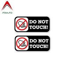 Aliauto 2 x aviso etiqueta do carro não toque decoração automática pvc decalque capa arranhões para mazda cx 5 gti vw golf 5 nissan, 11cm * 5cm