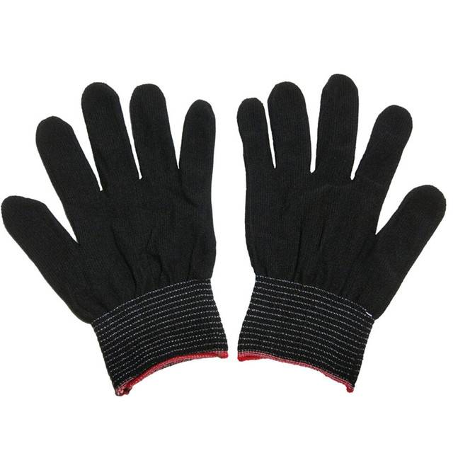 4pcs= 2 pairs White Black Nylon Antistatic Work Gloves Knit Working Gardening Lumbering Hand Safety Security Protector Grip 2