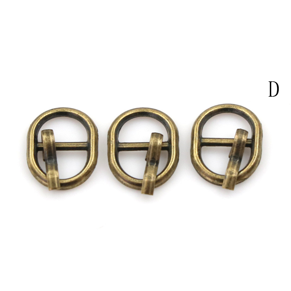 3/10PCS 4.5mm Mini Buckle DIY Patchwork Buckle For Dolls Clothing Adjustable Accessories Handmade Sewing 17