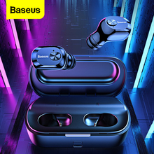 Baseus W01 TWS Bluetooth 5.0 אלחוטי אמיתי אוזניות אוזניות מיני אלחוטי אוזניות עם מיקרופון דיבורית אוזניות עבור Xiaomi iPhone
