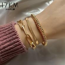 Link Bangles Bracelets-Set Punk Jewelry Snake Fashion Vintage Women Thick 17KM for Gifts
