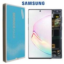 6.3 オリジナル amoled 三星銀河注 10 N970F note10 N970 N9700 フレームと lcd ディスプレイのタッチスクリーンデジタイザアセンブリ