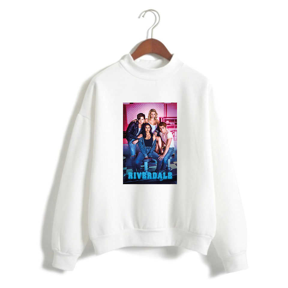 2019 hot sale Women Riverdale Season 4 south side serpents Trend Casual Street High Collar Hoodies Sweatshirt Plus Size XXS-4XL
