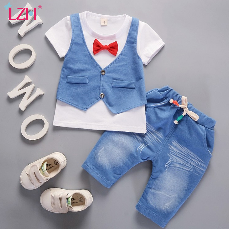 Baby Boys Clothes 2020 Summer Newborn Baby Clothing Tracksuit Baby Shorts Suit Outfit Toddler Infant Clothing Sets <font><b>6</b></font> <font><b>12</b></font> <font><b>24</b></font> Month image