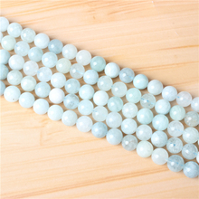 Aquamarine 4/6/8/10 mm Natural Stone Bead Round Bead Spacer Jewelry Bead Loose Beads For Jewelry Making DIY Bracelet Necklace