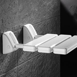 Image 5 - 벽 마운트 샤워 좌석 욕실 샤워 접는 좌석 접는 해변 목욕 샤워 의자 화장실 샤워 의자