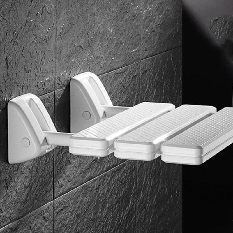 Image 5 - Wall Mounted Shower Seat Bathroom Shower Folding Seat Folding Beach Bath Shower Stool Toilet Shower ChairBathroom Chairs & Stools   - AliExpress