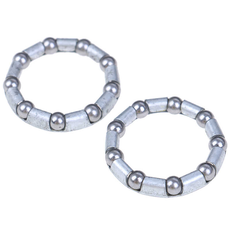2pcs bicycle rear wheel axle 1//4 inch x 9 ball bearing cages bike cyclingshaf wy
