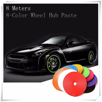 8m Car Styling Wheel Hub Tire Stickers For Volkswagen VW Arteon Eos Passat B5 B6 B7 B8 CC 1 Scirocco Atlas Golf Car Accessories image