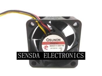 Original For Sunon MagLev MB40201VX-000C-F99 12V 1.38W 4CM Switch COOLING Fan