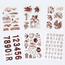 JIANWU Cute Squirrel Clear Stamps Basis Digital Transparent Silicone Seals Stamp for DIY Scrapbooking Stationery Supplies