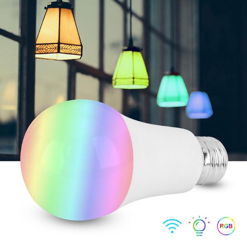 LED Magic Smart Light Bulbs E27 85-265V RGB Bluetooth WiFi Connection APP Voice Controlling Dimming Timing Lamps dropshipping