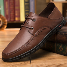 Men's Genuine leather breathable casual shoes outdoor business formal wear men's office lace-up Oxford shoes form men's shoes
