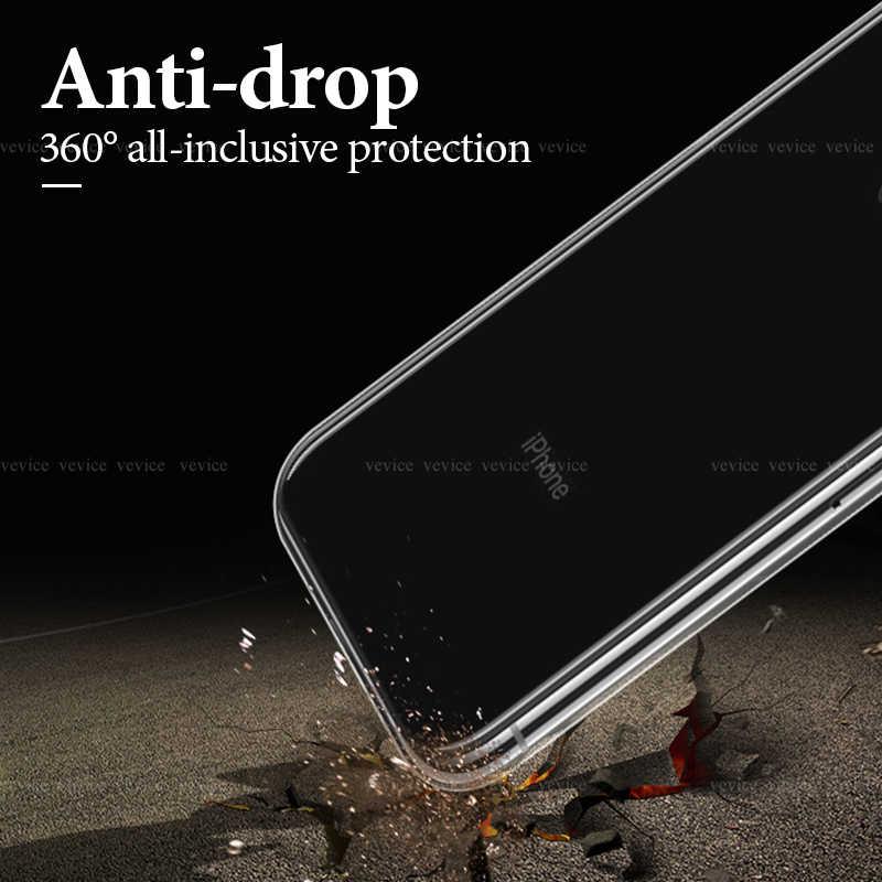 شفافة سيليكون غطاء من البولي يوريثان الحراري ل فون XR XS ماكس X 7 8 6S 6 زائد للصدمات الوفير الهاتف حقيبة لهاتف أي فون 5 5S SE 11 قذيفة