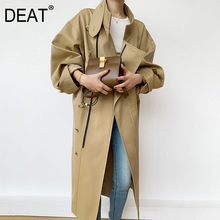Coat DEAT Short-Jacket Autumn Single-Breasted Winter Fashion Wide And WN54604L Turn-Spliced