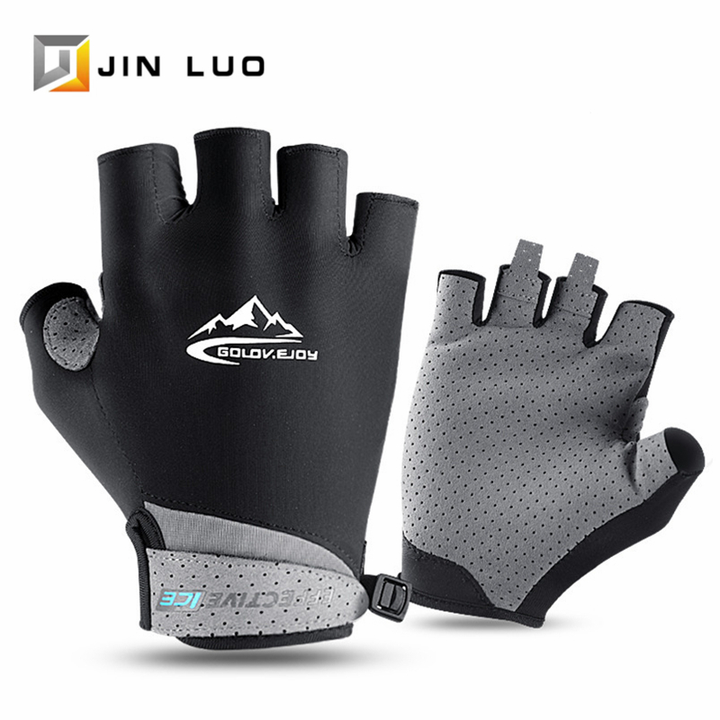 Bicycle Gloves MTB Road Bike Half Finger Glove Breathable Anti-UV Non-slip Golf Hiking Fishing Cycling Outdoor Sport Accessories image