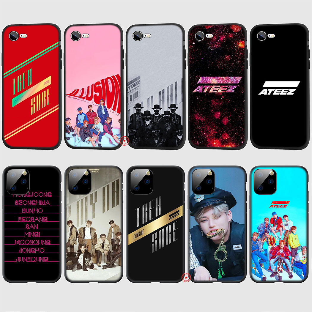 ATEEZ Kpop Hot Soft Silicone Case for iPhone 11 Pro XR X XS Max 6 6S 7 8 Plus 5 5S SE TPU Cover