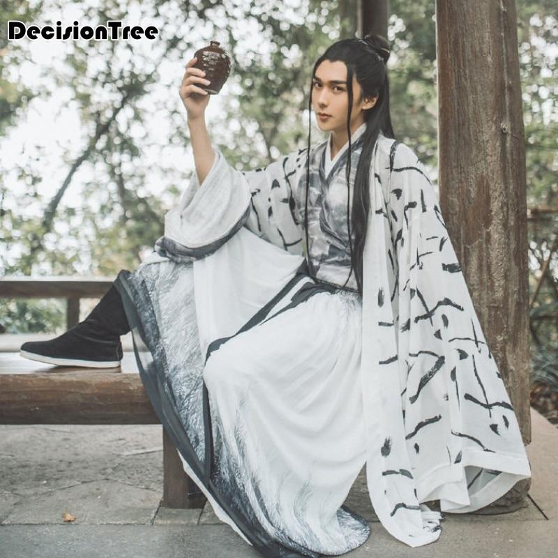 2020 Hanfu Chinese Style Hanfu Men Cosplay Black White Hanfu Ancient Chinese Costume Chinese Song Ming Dynasty Hanfu Dalam Tv