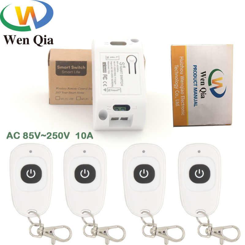 Wifi ワイヤレススイッチと互換性 433 433mhz の rf リモートコントロール AC 220V 10A 1CH スマートリモコン Diy タイマー ios の Android