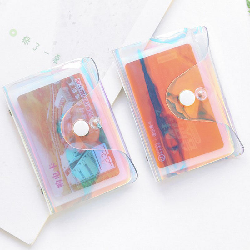 1 Pcs Hot Sale Transparent Credit Card Holder Women Card Case Organizer Wallet Fashion Clear Pvc Passport Cards Cover Card Bag
