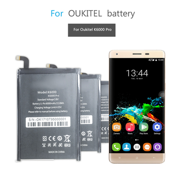For Oukitel K6000 Pro Li-ion Polymer Batteries For Oukitel K6000 Pro 6000mAh Cell Phone Replacement Battery image