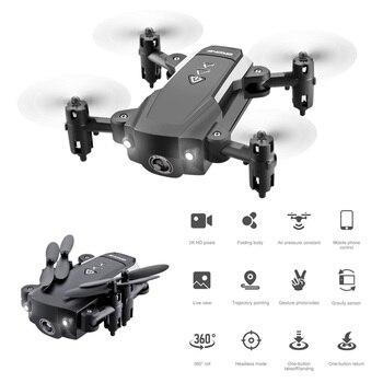 KK8 Foldable Mini Drone WiFi FPV 720P 1080P HD Camera Fixed Height Mode Quadrotor Drones Remote Control Outdoor Child Toys Gift