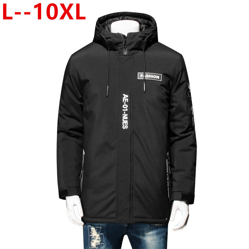 Plus Size 8XL 7XL 6XL 5XL 2020 New Clothing Jackets Business Solid Parka Fashion Overcoat Outerwear Long Thick Winter Coat Men