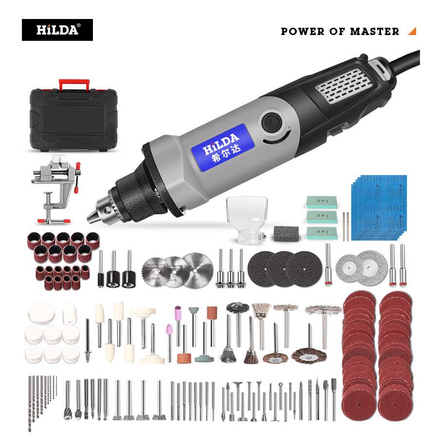HILDA trapano elettrico Mini incisore utensile rotante 400W Mini trapano 6 posizioni per utensili rotanti Dremel Mini rettificatrice