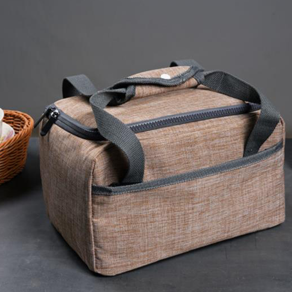 Women Men Snack Storage Picnic Lunch Bag Food Container Waterproof Oxford Camping Dinner Office Travel School Thermal Insulated