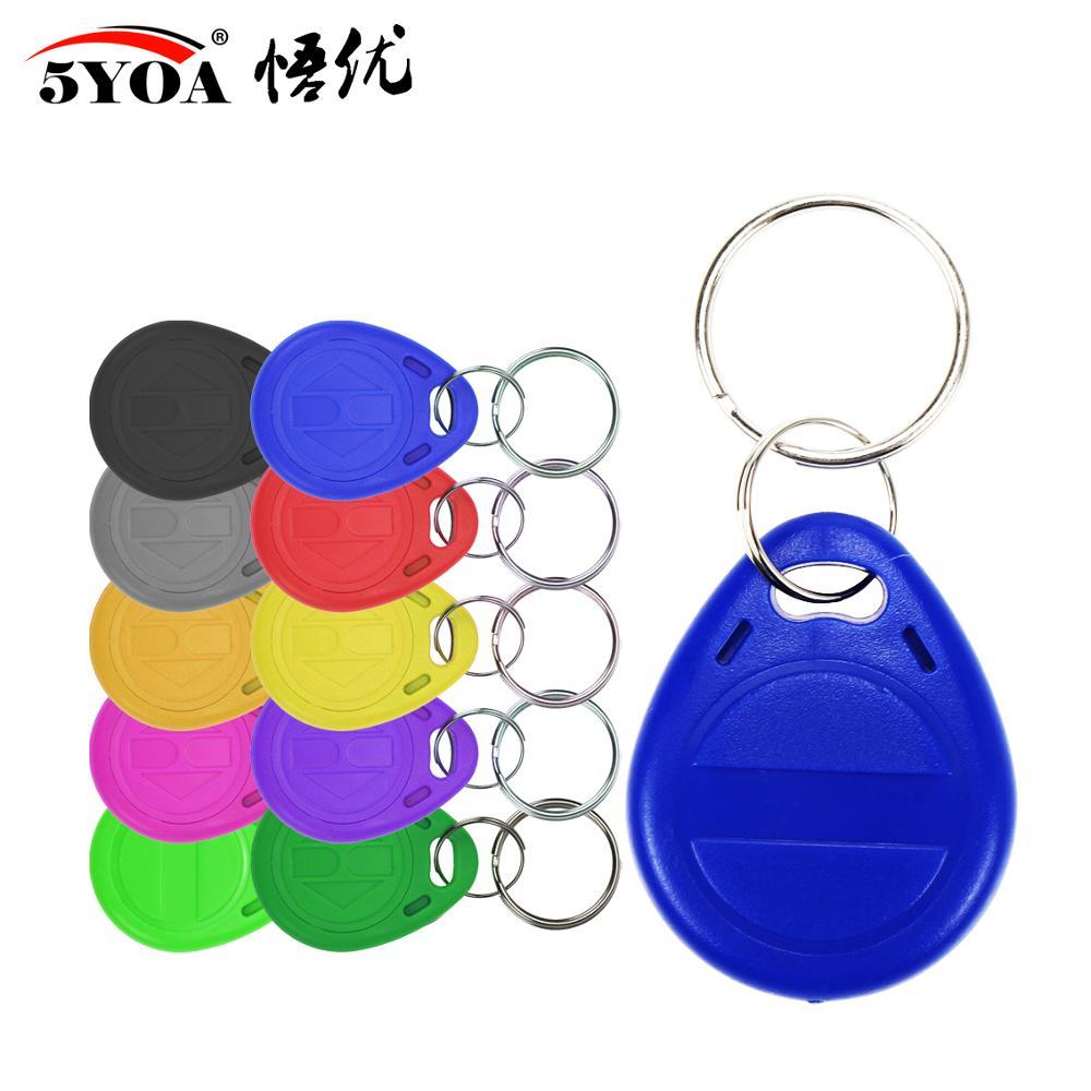 100pcs em4305 t5577 Copy Rewritable Writable Rewrite Duplicate RFID Tag Proximity ID Token Key Keyfobs Ring 125Khz Blank Access(China)