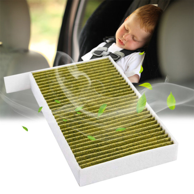 1PC Car Cabin Air Filter Replacement with Activated Carbon for Tesla Model 3 2017 2018 2019 Car Air Conditioning Filter PM 2.5