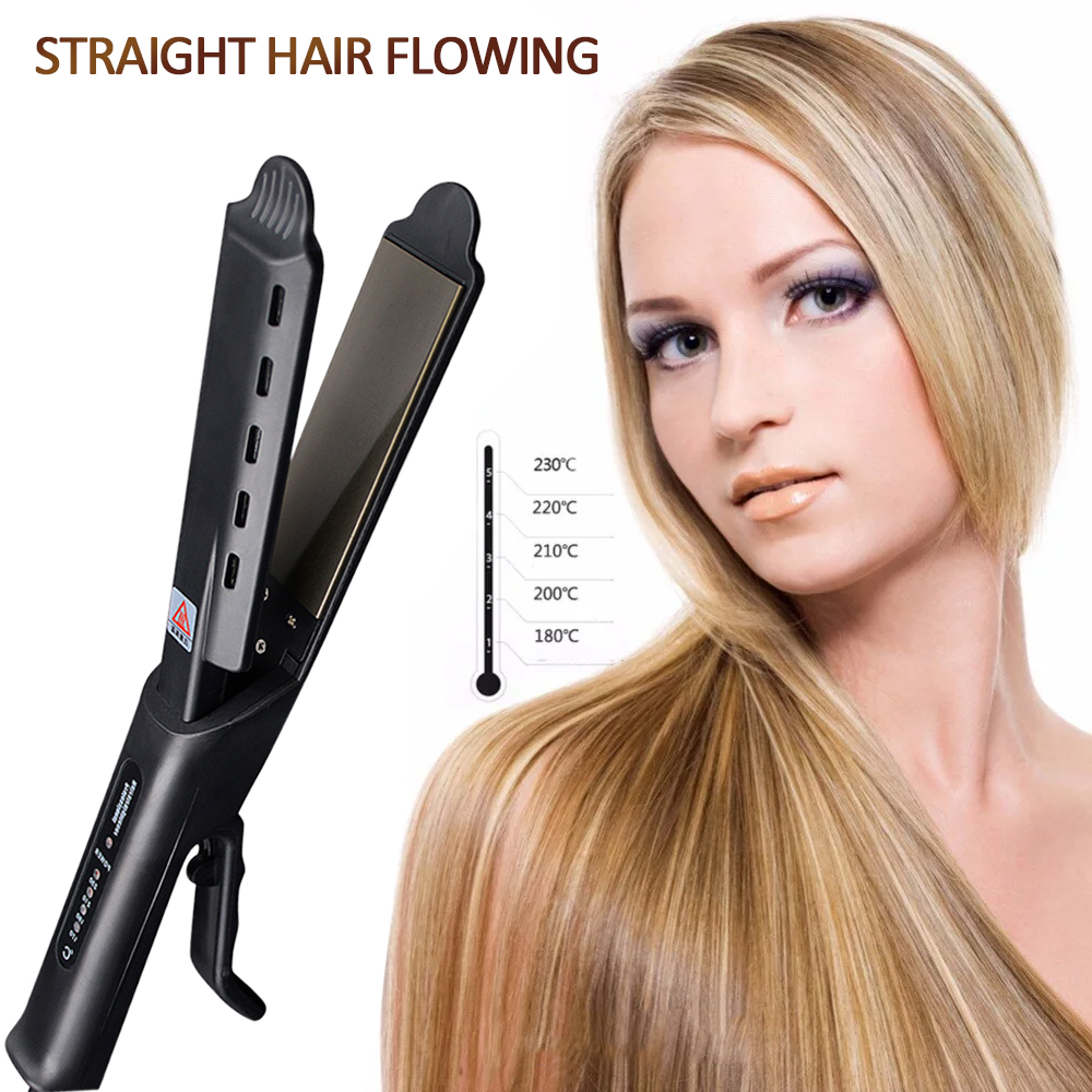 Professional Salon Ceramic Tourmaline Ionic Flat Iron Hair Straightener Salon Glider Hair Straightening Hair Styling Accessories