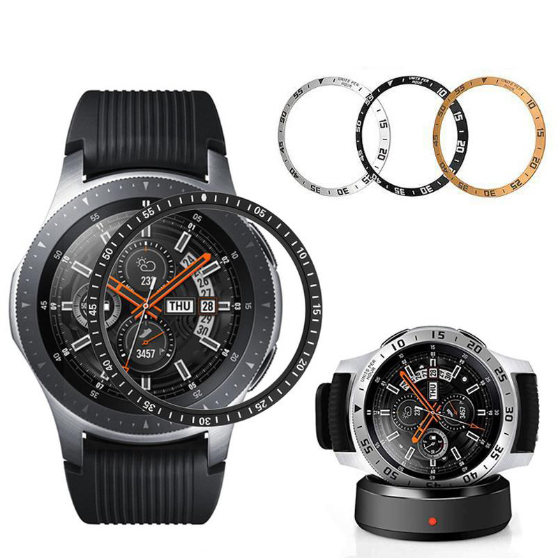 Suitable For Samsung Gear S2 S3 Classic Frontier Galaxy Watch 46mm 42mm Bezel Ring Cover Frame Anti-scratch Metal Protection