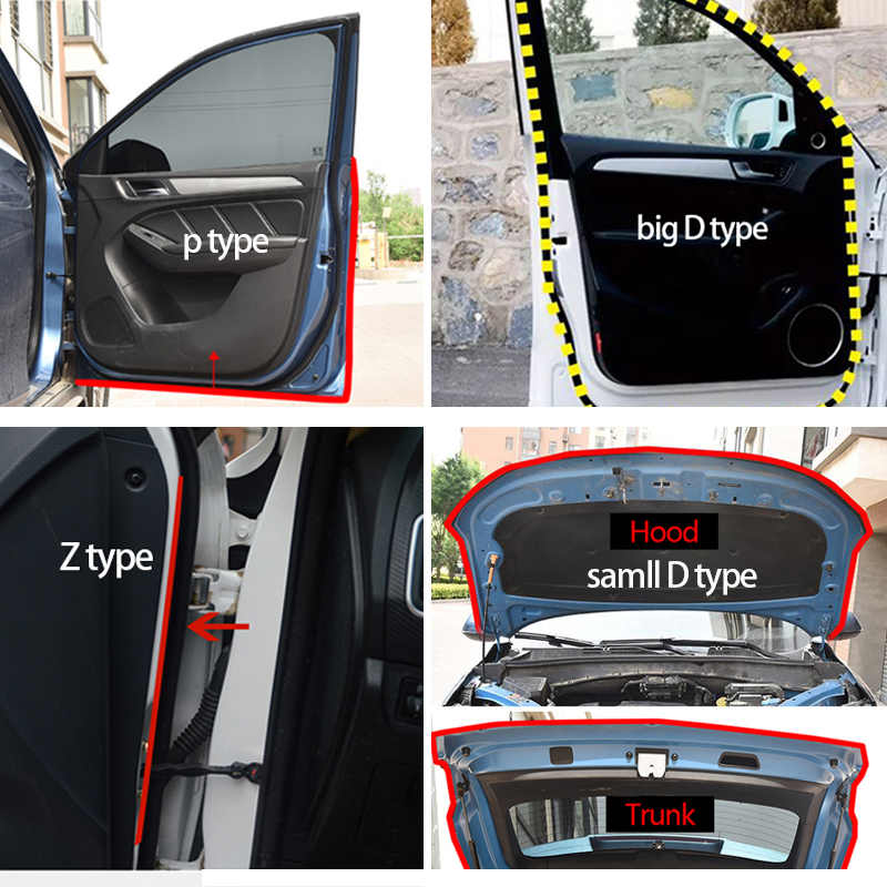 Autodeur Afdichting Strip Auto Stickers Deur Edge Protector Geluidsisolatie Anti-Dust Geluiddichte Afdichting Strips Interieur Accessoires