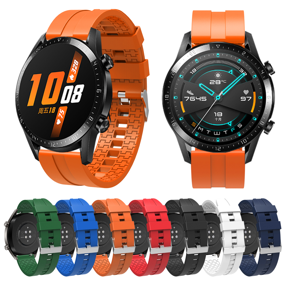 Replaceable Watchbands for HUAWEI WATCH GT 2 46mm/GT Active 46mm/HONOR Magic Silicone Strap Band GT2 Official style Bracelet(China)