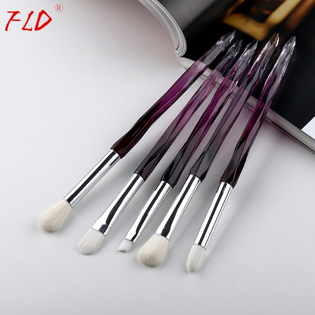 FLD 5Pcs Eye Brush Mini Diamond Makeup Brush Set Eye Shadow Lip Eyebrow Brushes High Quality Professional Lip Eyeliner Tools 3