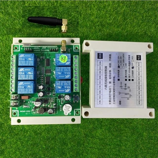 universal DC 12V 24V 36V 48V 10A 6CH 30A relay RF Wireless radio Remote Control 433 mhz or 315mhz Industrial/agricultural 6