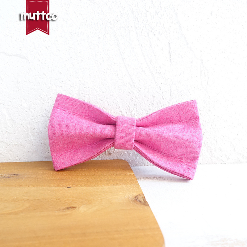 Muttco Pet Dog Collar Double Layer Bow Creative Accessories Accessories Bowtie Ubt-076