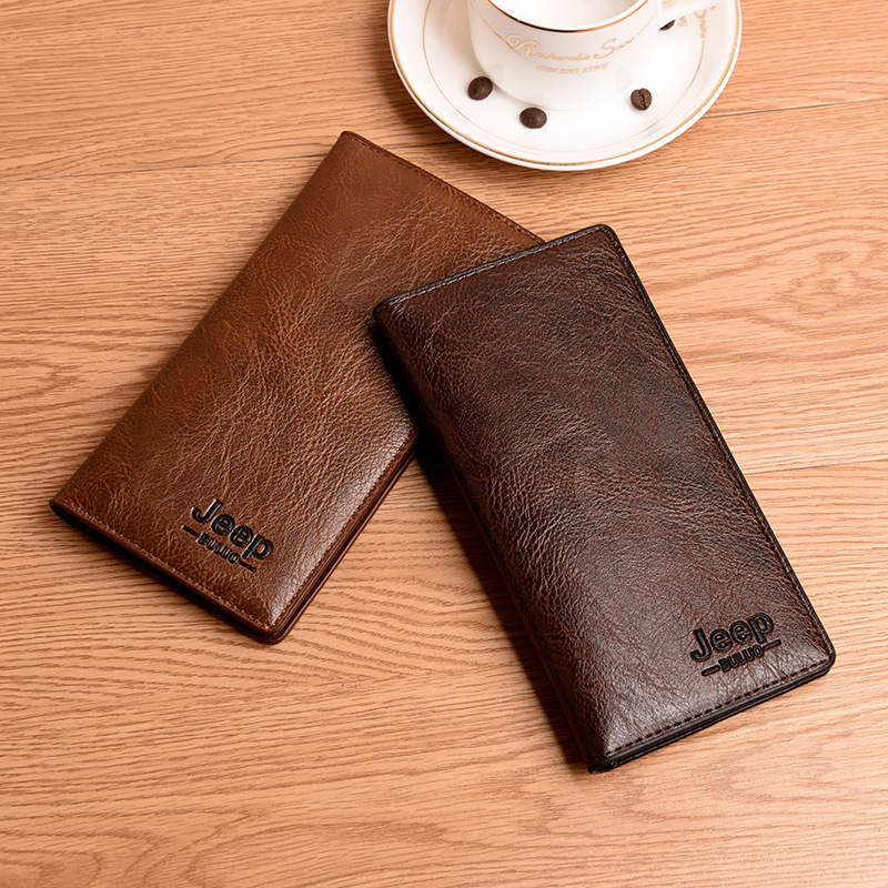 Men's Long Wallet Fashion Soft Leather Multi-function Card Bag Student Solid Color Wallet 2019 NEW