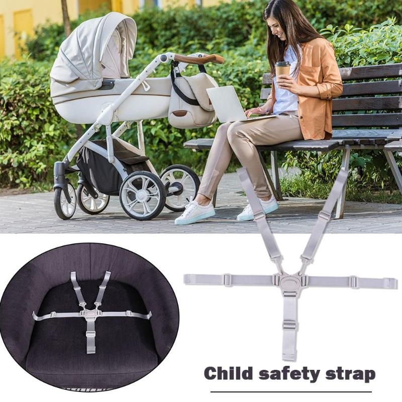 5 Point Harness For Stroller Chair Portable Waterproof Safety Seat Belts Universal Baby Dining Accessories High Chair Props