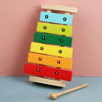 2020 New Toy Xylophone Children's Educational Toy Wooden Eight-Notes Frame Style Xylophone Children Kids Baby Musical Funny Toys 15 notes wooden xylophone musical instrument toy early learning educational toys birthday gift for children kids