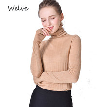 Welve sweater women invierno 2019 turtleneck Cashmere Slim fashion knitted winter clothes sweaters
